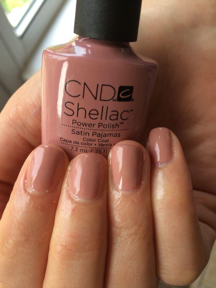 CND shellac manicure - Satin Pajamas