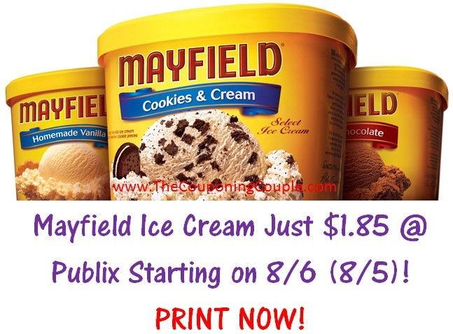 ***SCORE A HOT DEAL ON A COOL TREAT AT PUBLIX STARTING ON 8/6 (8/5 FOR SOME)*** Make sure and print your coupons NOW and grab Mayfield Ice Cream for just $1.85 (reg. price $5.71)!  Click the link below to get the FULL BREAKDOWN and DIRECT LINKS to the coupon ► http://www.thecouponingcouple.com/hot-mayfield-ice-cream-deal-publix-starting-on-86-85-for-some/  #Coupons #Couponing #CouponCommunity  Visit us at http://www.thecouponingcouple.com for more great posts!