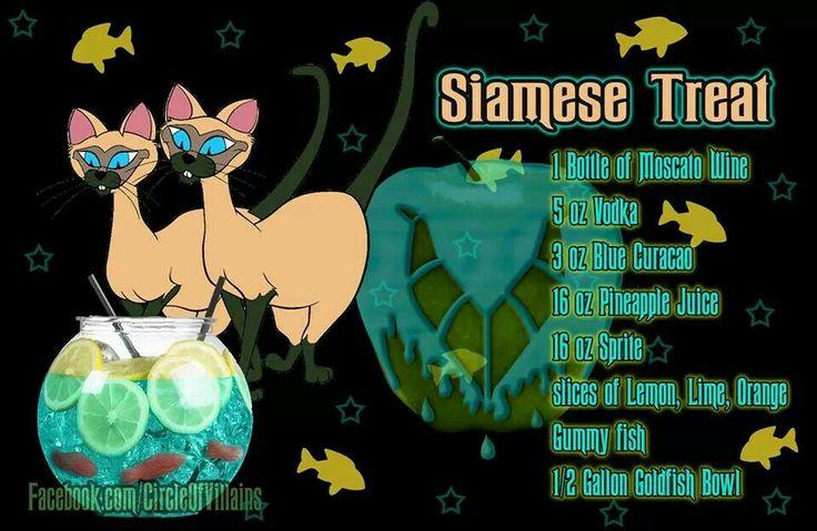 Siamese Treat. Disney theme drinks