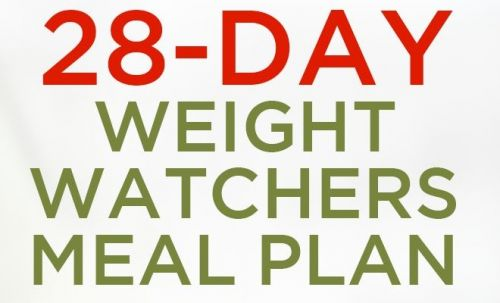 28-Day SuperSlim Me Weight Watchers Meal Plan