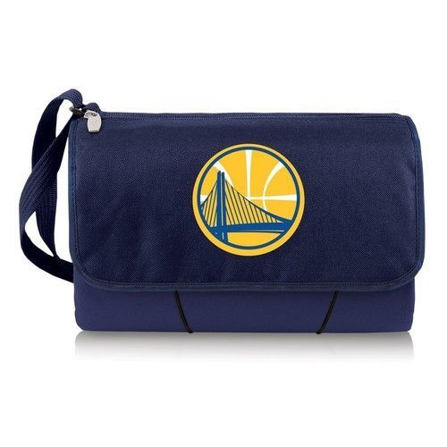 Golden State Warriors Throw Blanket Built-In Tote
