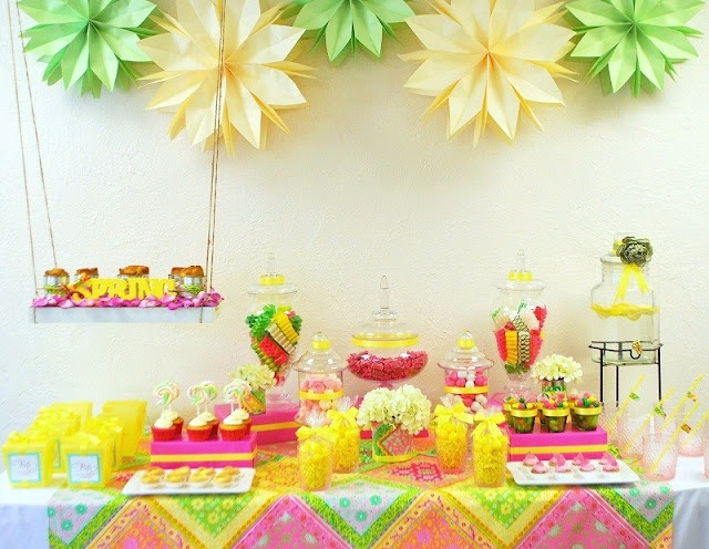 Swing Into Spring Sweets Table