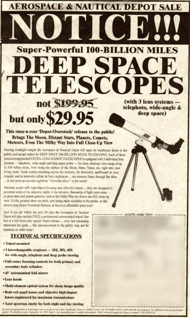 Jacob: Telescopes helped advance the future of space exploration and the knowledge of humanity.