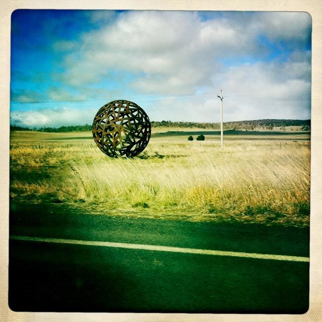 Paddock art near Cooma, NSW.  Photo taken 30/07/12 by Fiona McGrath.