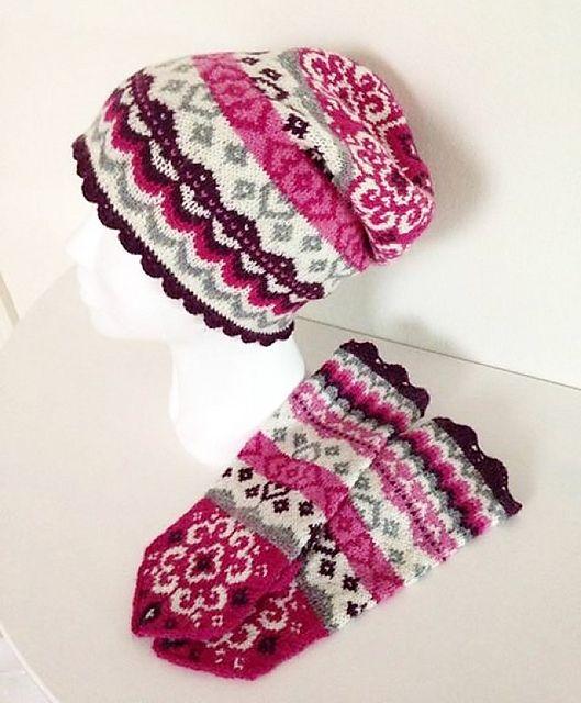 Ravelry: Joyful knit slouchy beanie pattern by JennyPenny