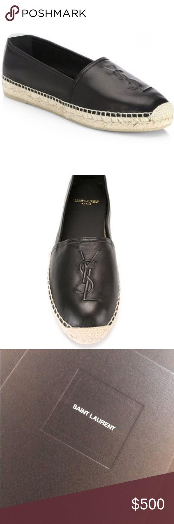 YSL ESPADRILLES Brand new purchased from saks online, too big & my size is no longer available. Will return if I don't get any offers/purchased. PRICE IS FIRM. Will post pictures & box later today Saint Laurent Shoes Espadrilles