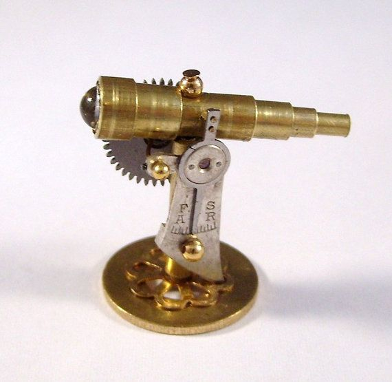 Ring In The Steampunk Decor To Pimp Up Your Home: Miniature Medieval Ornate Steampunk Tabletop Telescope