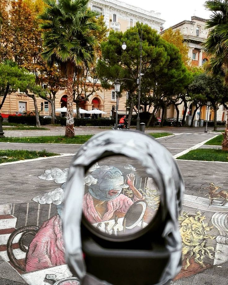 3D Street art in Salerno, Italy