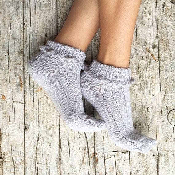 Woman summer socks embellished with an elegant by HandMadeInItaly