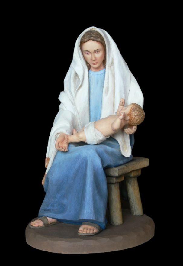 Maria z dzieciątkiem - figura do szopki bożonarodzeniowej