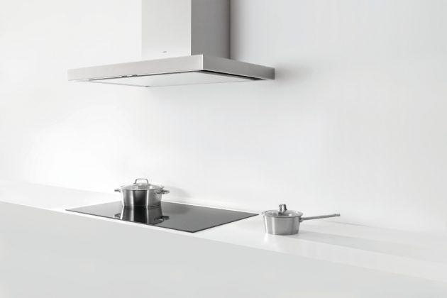 Novy extrem leise Dunstabzugshaube - minimalistisches Design