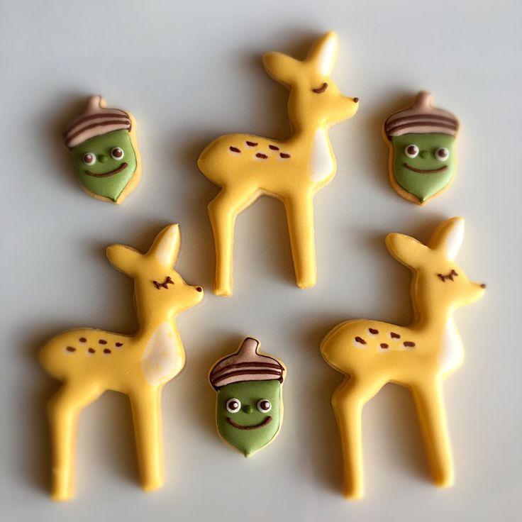 soramina's dish photo しか どんぐり アイシングクッキー | http://snapdish.co #SnapDish #クッキー