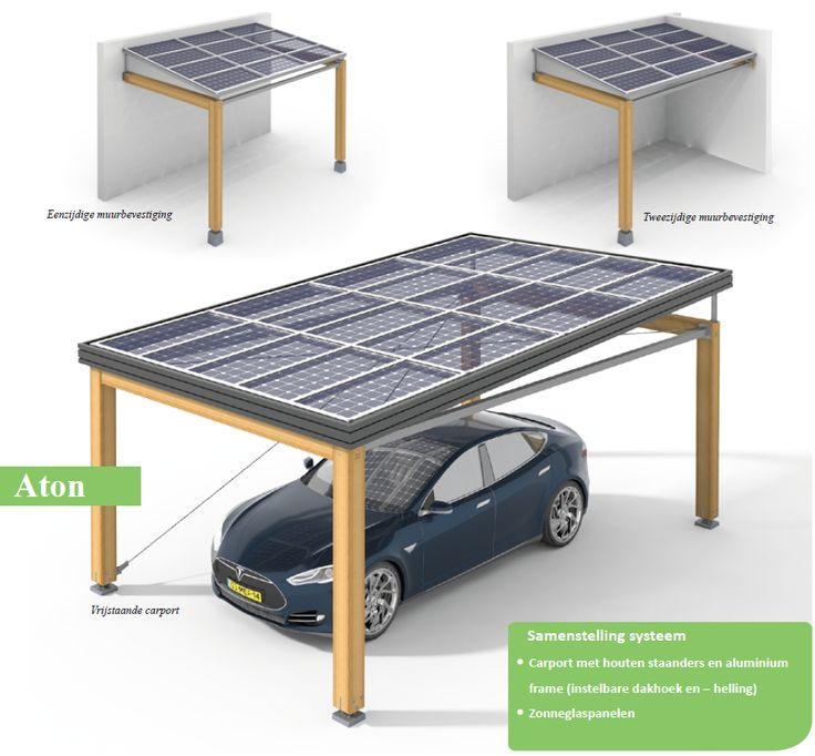 houten carport met zonnepanelen. we hebben een auto die best wel duur is, dus een afdakje is altijd handig! als je dan nog zonnepanelen er op hebt dan is dat helemaal goed. mijn nieuwe huis is een alleen staand huis, dus er kan genoeg zon op komen.