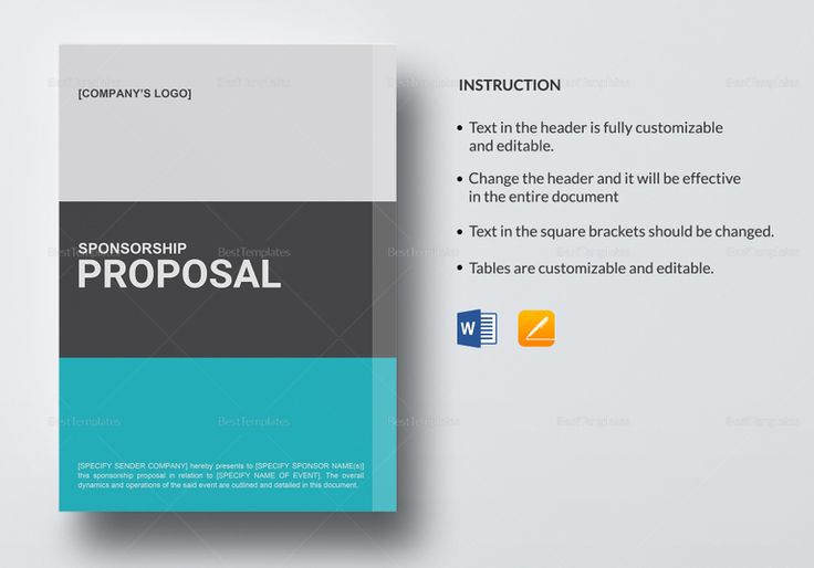 25 best Proposal Document Design images on Pinterest - sponsorship proposal template