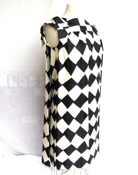 1960s Mod Sack Dress