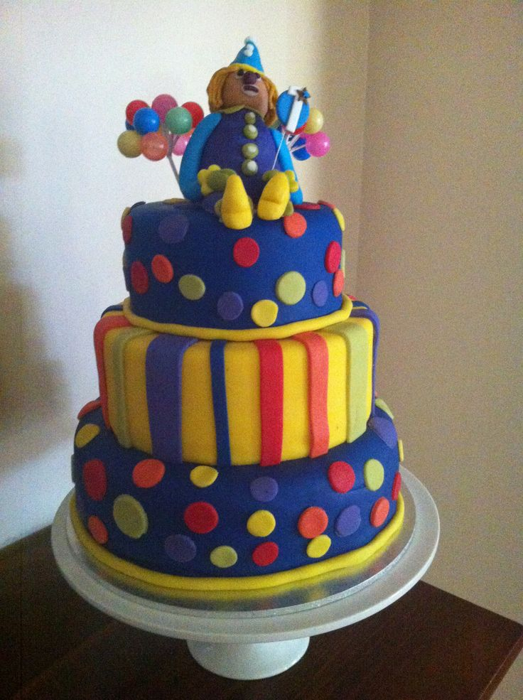 Circus/Carnival Cake for my Boy's 1st Birthday :-D