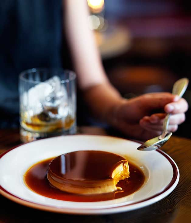 Restaurant Hubert's recipe for crème caramel :: Gourmet Traveller