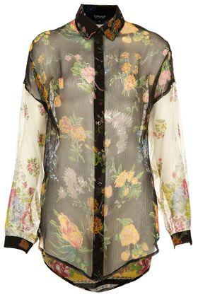 Oversize Patch Floral Shirt
