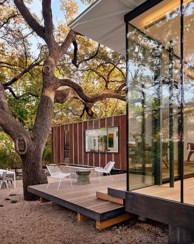 Üvegfal a terasz felé - erkély / terasz ötletek, modern stílusban