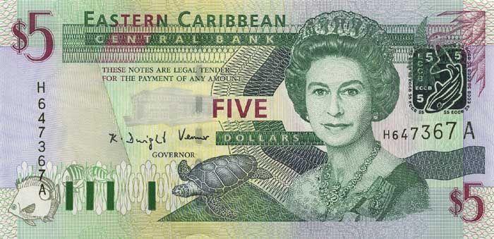 5 Долларов (2003) Британские Виргинские острова (British Virgin Islands) Северная Америка