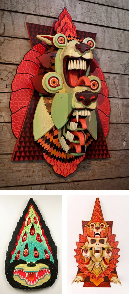 Guest Post: Incredible Wood Sculptures by AJ Fosik   Inspiration Grid   Design Inspiration