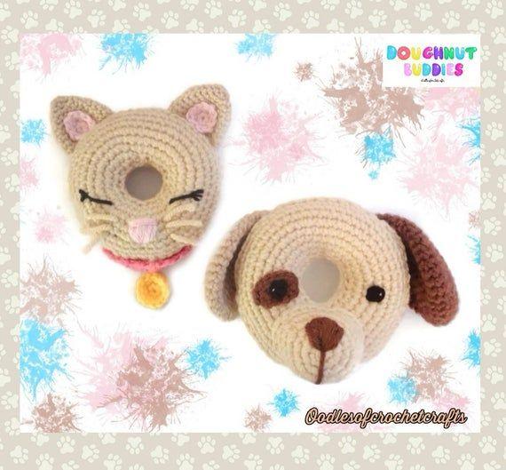 CROCHET PATTERN Doughnut Buddy Bunny PDF Crochet Pattern with instant download