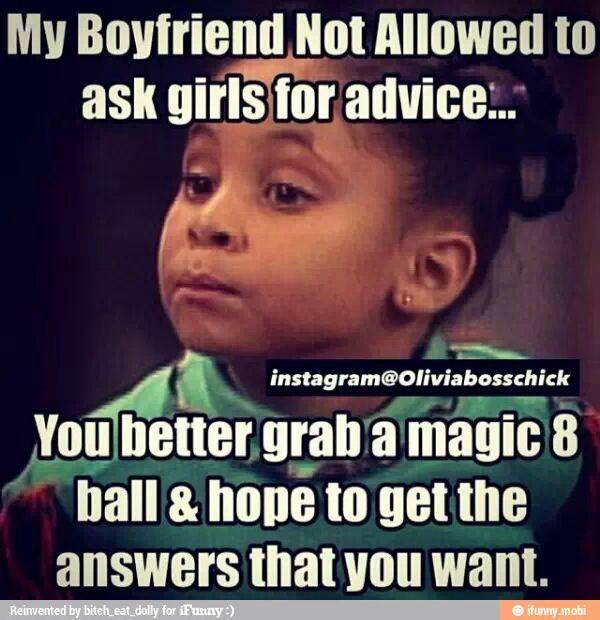 Girlfriends be like