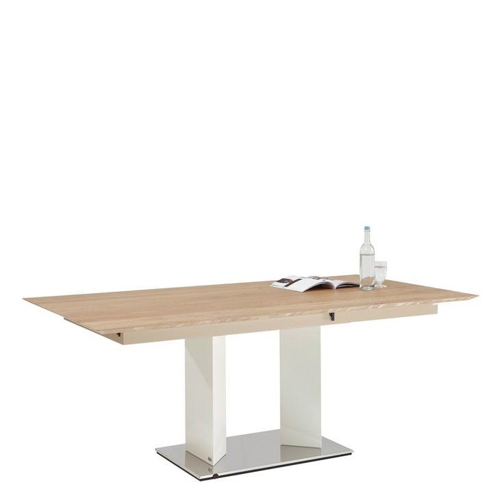 XXXL ESSTISCH Eiche mehrschichtige Massivholzplatte (Tischlerplatte) rechteckig Silber, Weiß Jetzt bestellen unter: https://moebel.ladendirekt.de/kueche-und-esszimmer/tische/esstische/?uid=54b28ec7-f06b-5056-a414-add05d87a104&utm_source=pinterest&utm_medium=pin&utm_campaign=boards #kueche #esstische #esszimmer #tische