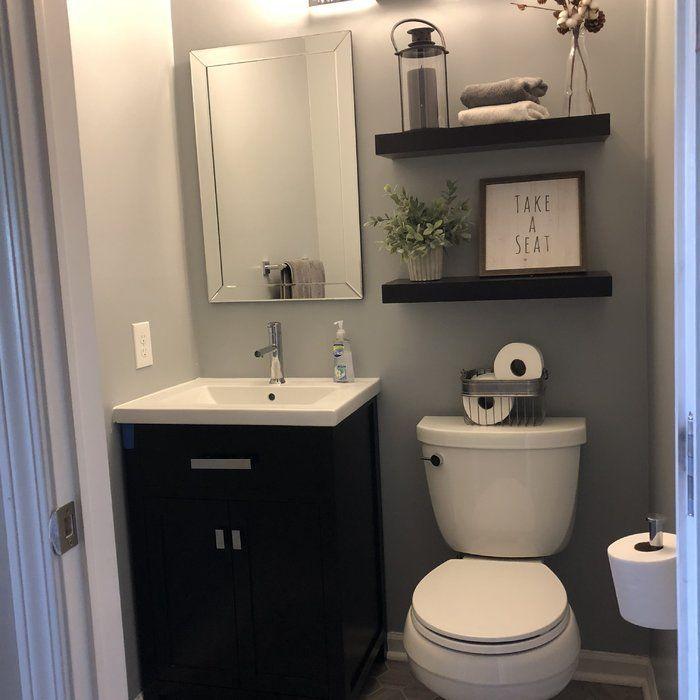 Knighten 24 Single Bathroom Vanity Set Reviews Allmodern Small Bathroom Single Bathroom Vanity Restroom Decor