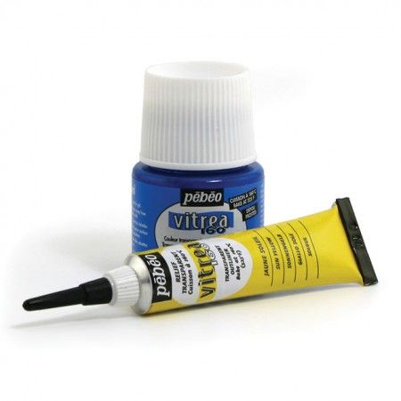 Pebeo Vitrea 160 paints are designed for glassware, vases, lamps, and even entire window surfaces. For glass, the transparency of Vitrea 160 colors allows you to take full advantage of the light. Available in 45 ml. bottles or 20 ml. squeeze tubes.