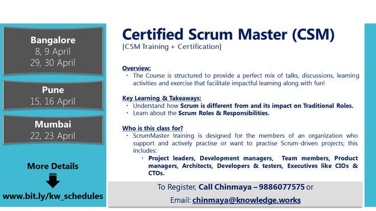 Certified Scrum Master {CSM Training + Certification