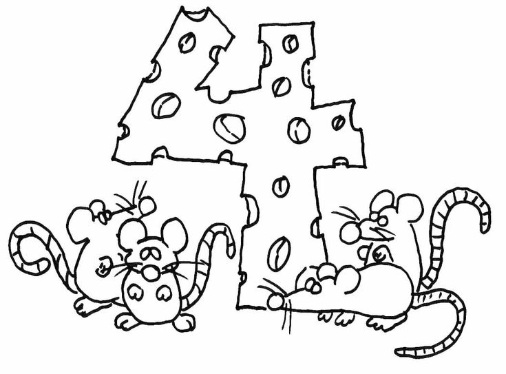 ¡Los ratones tienen mucha hambre! ¿Ya sabes contar cuantos hay en la imagen? Diviértete con estos dibujos de números para colorear.