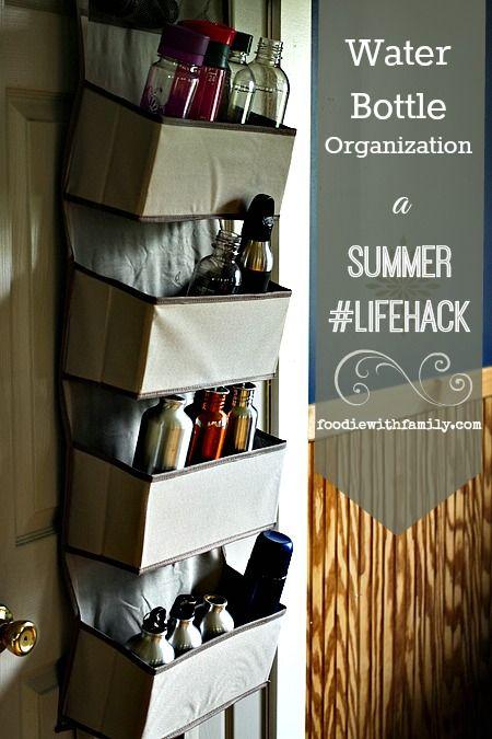 Water Bottle Organization LifeHack