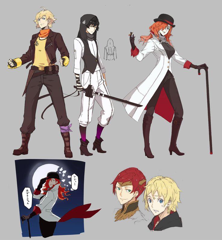 RWBY genderbend - Yang, Blake, Roman, Pyrrha, Jaune