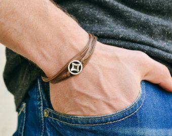 Herren Armband grüne Schnur Armband für Männer mit von Principles