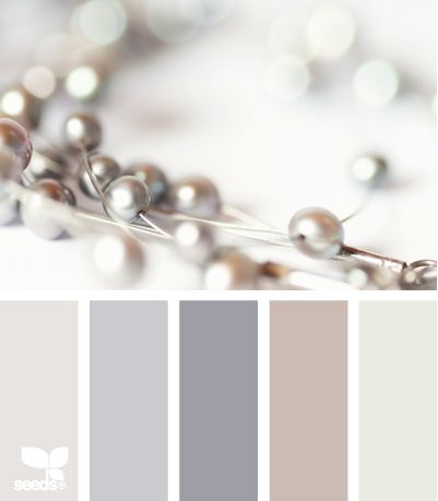 Beaded Tones; The second from the left, the lavendarish one, would look grand o a wall that had its baseboards and crown molding done in the second from the right grey/purple.