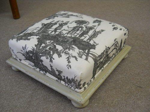 Toile De Jouay Taburete tapizado