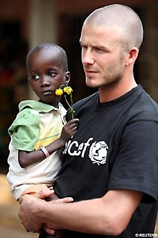 "David Beckham #Football Ambassador in Africa. | #Poverty #WeThePeOplE; ""Enjoy a Cappuccino while Saving Lives!"" Join The Movement!     @Pinterest.com/vipsaccess/we-the-people-pinterest-charity-fund-raise-campaign/(see more about David Beckham/UNICEF on bottom of this board)"