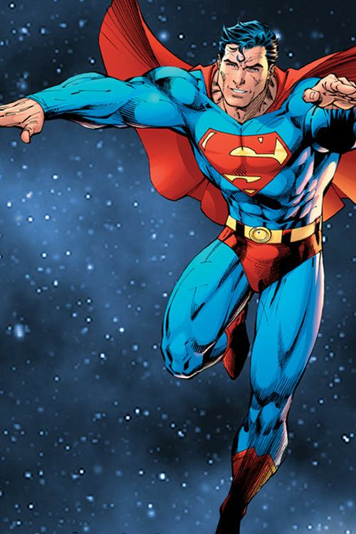Image present the protagonist character Superman. This character is presented in most TV shows and comic books fighting antagonist characters and keeping society safe.