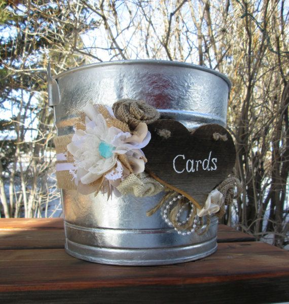 Card Holder Country Wedding Ideas: Burlap And Lace Card Holder