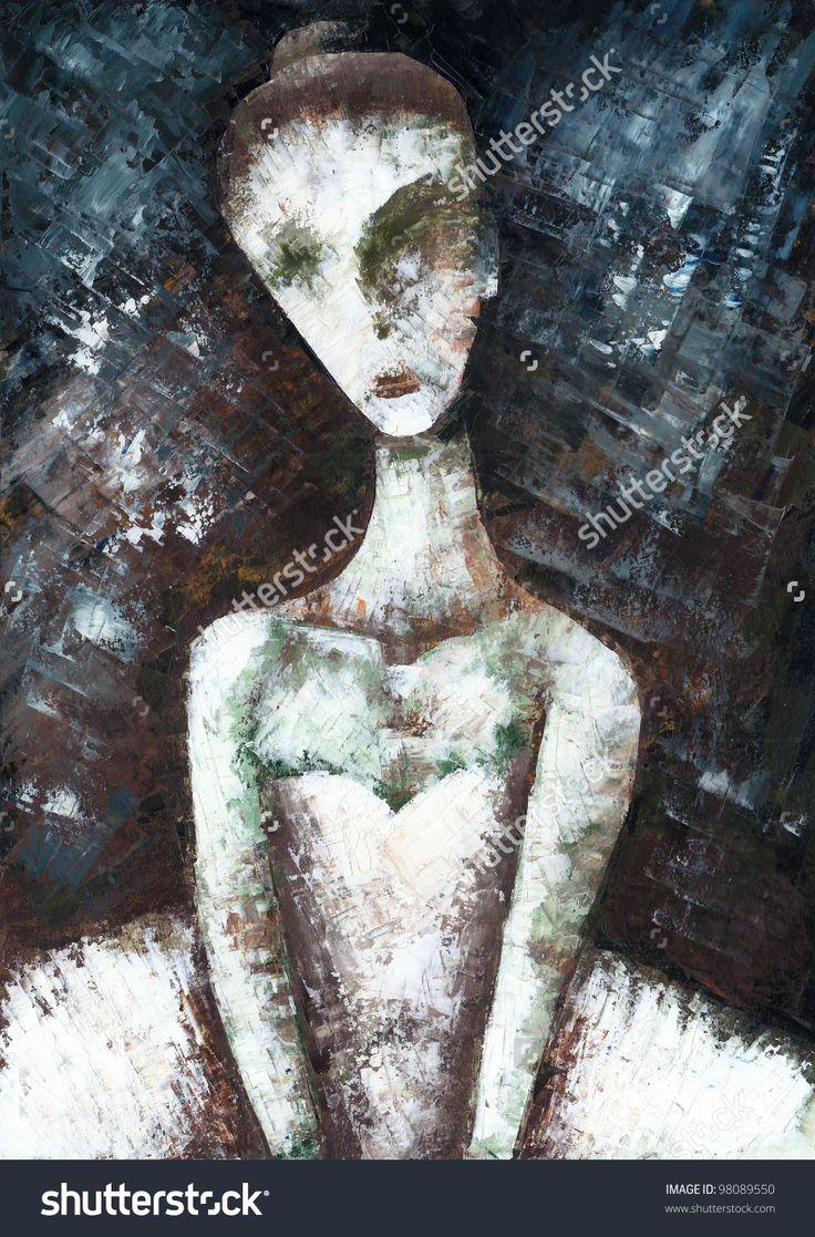 Ballerina by Eugene Ivanov. #eugeneivanov #elegant #woman #portrait #lady #painting #art #nude #cubism #girl #female #femina #@eugene_1_ivanov
