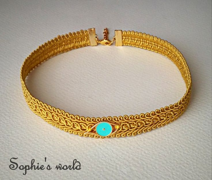 choker ethnic necklace spring summer handmade accessories χειροποίητο κολιέ τσόκερ με γαλάζιο ματάκι  https://www.facebook.com/Sophies-world-712091558842001/