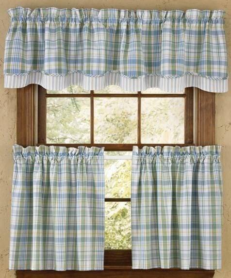 Sarasota Valance Layered Country Kitchen Curtains Country Kitchen Farmhouse Home
