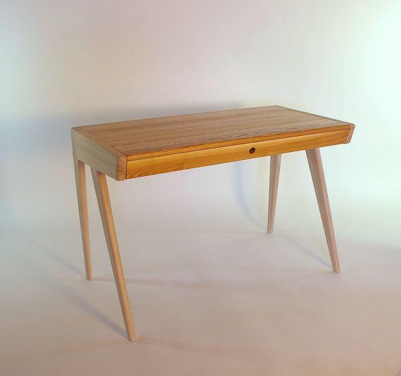 Solid Ash Wood Computer Desk With Drawer Solid Ash Oak