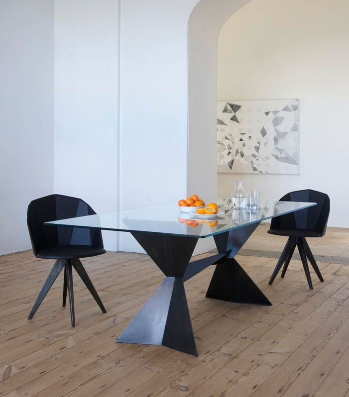 the echo dining table was inspired by the arctic and made in chelsea england by tom faulkner