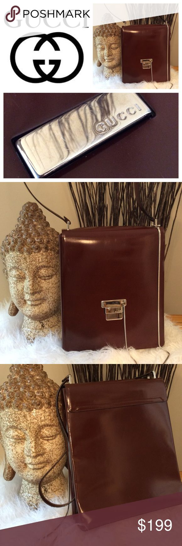 Gucci Leather Vintage Bag with Chain Detail Gorgeous burgundy leather and stunning design.  Serial number shown in photos.  The lining on this bag was replaced and branded inside zipper pull is still intact. This is a standout, unique piece  for sure!  EUC See photos for serial number and measurements ***Need more ideas for what to wear to an upcoming event or to suit a new life change? Contact a Sweetpetunya Stylist (shop@sweetpetunya.com)  for a live consultation. We're here to help…