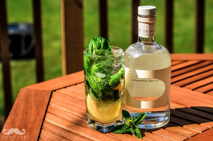 Basil, And Lemon Skinos Cocktail By EVOO