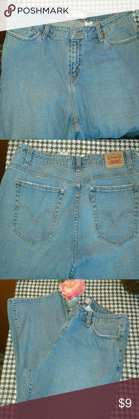 Levi's Jeans 99% Cotton 1% Lycra Spandex Levi's Jeans Boot Cut