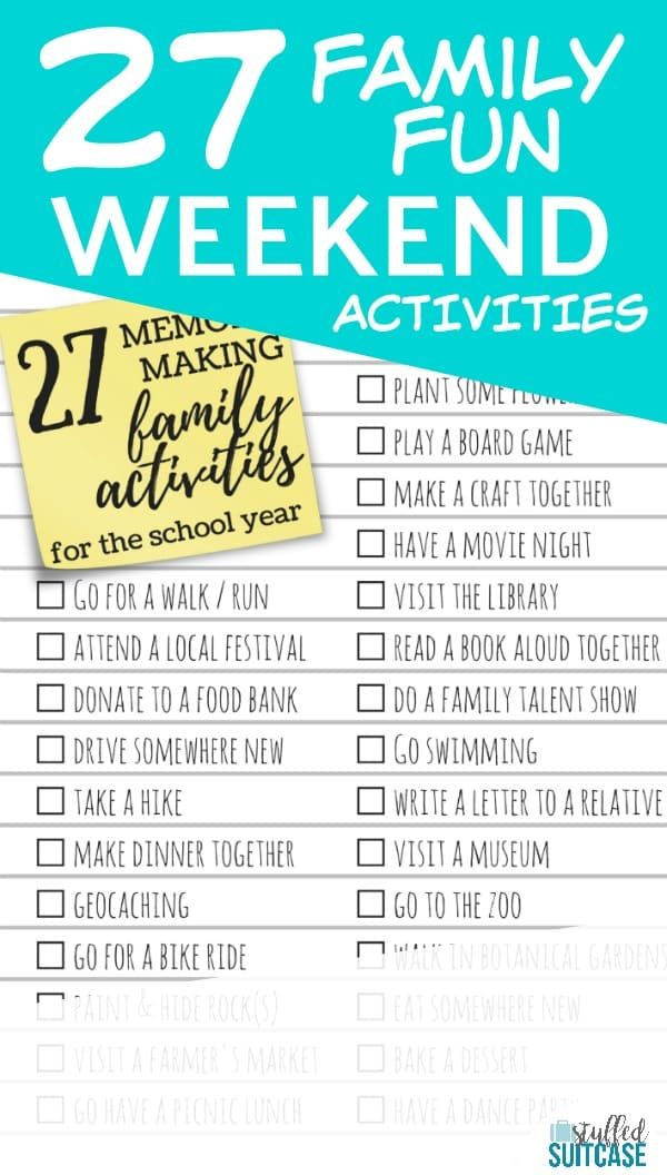 27 Memory Making Activities to Do with Your Kids During the