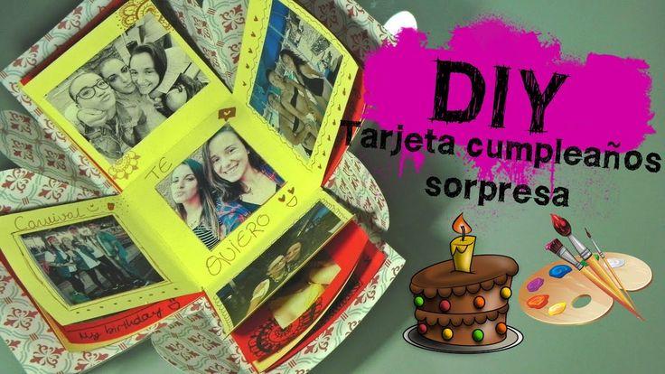 DIY: Idea de regalo de cumpleaños II: Tarjeta caja sorpresa + REACCIÓN A...
